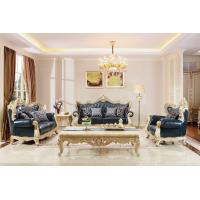 Wholesale European style Luxury Leather Sofa set wood carving by Joyful Ever Living room Furniture from china suppliers