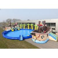 Quality Priate Bay Inflatable Water Slide Professional Safety For Entertainment for sale