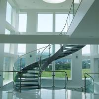 Wholesale Good Price Commercial / Residential Stainless Steel Prefabricated Curved Stairs from china suppliers
