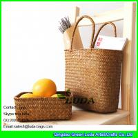 Wholesale LUDA seagrass straw stroge box and natural straw beach bags for 2016 summer from china suppliers