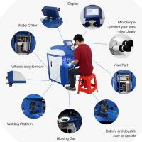 Wholesale YAG Glasses Gold Laser Soldering Machine , Electronics Laser Welding Equipment from china suppliers