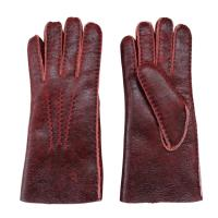 Wholesale Christmas Gift Stock Merino Lamb fur Shearling Sheepskin Gloves for Women from china suppliers