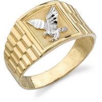 Wholesale American Fashion Jewelry Rings With Gold Plated Engraved A Eagle Men Ring from china suppliers