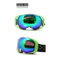 Wholesale Brown Revo Green Lens Anti Fog Snow Goggles For Men , CE / FDA Certificate from china suppliers