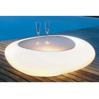 Buy cheap PE Material LED Coffee Table Rechargeable Battery With Storage Unit Matching from wholesalers