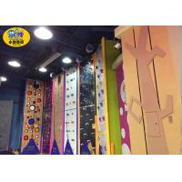 Wholesale Commercial Indoor Kids Rock Climbing Wall High Strength Steel Frame And Plate from china suppliers