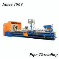 China Stable Pipe Threading Lathe , High Speed Precision Lathe Turning Oil Pipes on sale