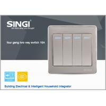 Buy cheap GNW56BK british standard 4 gang 2 way wall switch,human body sensor lightswitch, from wholesalers
