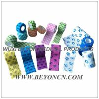 Wholesale Cohesive Printed Private Pattern Elastic Bandage Bitter Taste Vet Wrap FDA CE from china suppliers
