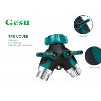 Wholesale Water Tube Plastic Tap Connector , Y Piece Hose Splitter Two Way 3/4 Inch from china suppliers