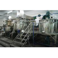 Buy cheap Tilting Homogenizing Vacuum Emulsifier Mixer Machine 500L With High Speed Homogenizer from wholesalers