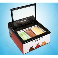 China Commercial Desktop Ice Cream Refrigerated Showcase Freezer on sale