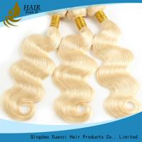 Buy cheap Remy Brazilian Ladys Hair Extensions , Loose Waves Virgin Golden Hair from wholesalers