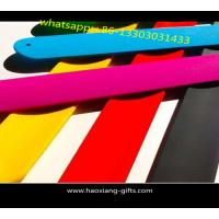 China cheap OEM hot selling high quality colorful customized logo PVC reflective slap wristbands for sale