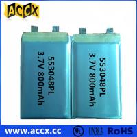 Wholesale 553048PL 3.7V 800mAh  Mini speaker and GPS rechargeable battery from china suppliers