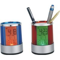 Wholesale OEM Electronic Desktop Calendar, Multicolor Backlight Brush Pot Promotion Gift from china suppliers
