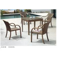Wholesale modern pe rattan boite dining table chair outdoor furniture set from china suppliers