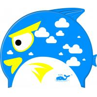 Wholesale High quality shark swimming caps colorful baby swim cap rubber from china suppliers