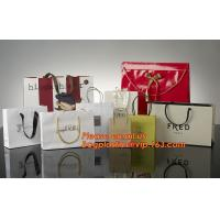 High Quality And Fancy Customized Black Printed Luxury Gift Paper Shopping Bag for sale