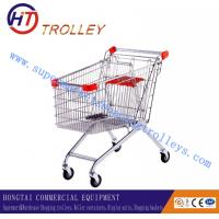 Wholesale European Style Steel Supermarket Shopping Trolleys Carts Unfolded from china suppliers