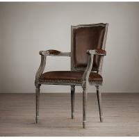 back cream leather dining room chairs with oak solid wood for sale