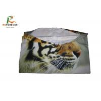 China Comfortable Tiger Animal Print Cushion Covers Full Dye Sublimation Lycra Material on sale
