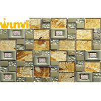 Wholesale Acid - Proof Floristic / Subway Stainless Steel Mosaic Tile With Crystal Chip from china suppliers