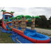 Wholesale 0.55mm PVC Tarpaulin Outdoor Huge Inflatable Water Slides For Rent from china suppliers