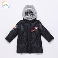China Wholesale Insulated Boutique Clothing Long Stylish Kids Winter Black Puffer Boys Hooded Jacket for sale