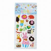 Wholesale 3-D Puffy Stickers, Available in Various Styles and Designs, OEM Orders are Welcome from china suppliers