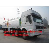 Wholesale Green 8x4 38000L Oil Tanker Truck with 400L Fuel Tank , 380 Horsepower from china suppliers