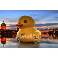 China 3m Height 0.9mm PVC tarpaulin Inflatable Water Toys Giant Inflatable Yellow Rubber Duck on sale