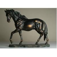 Wholesale Life Size Antique Bronze Horse Sculptures , Hotel Decoration Outdoor Horse Sculpture from china suppliers
