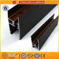 Buy cheap Customized Hollow Wood Finish Aluminum Window Frame Extrusions from wholesalers