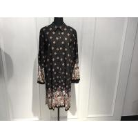 Wholesale Shirt Collar Womens Wrap Dresses Loose Fitting With Positioning Print from china suppliers