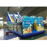 Wholesale Seaworld Giant Commercial Inflatable Slide With Inflatable Bounce House Hand Printing from china suppliers