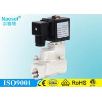 China SS 1.6 MPA 16 Bar 230 PSI Piston Solenoid Valve With Teflon Seal Normally Opened on sale