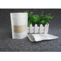 China Eco Friendly White Kraft Paper Bags , Excellent Gas Barrier Kraft Paper Resealable Bags on sale
