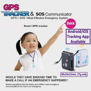 Wholesale Mini GSM GPS Tracker Child Kids Elderly SOS Emergent Help Communicator Sender W/ Microphone Speaker for 2-Way Phone Talk from china suppliers