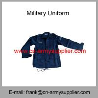China Wholesale Cheap China Cotton Polyester Army Police French Military Uniform on sale