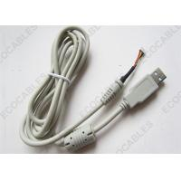 China White USB Extension Cable Assembly For Data Transfer Rohs Compliant on sale