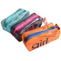 Wholesale Orange / Green Household Storage Bags With Nylon Zipper For Gadget Accessories from china suppliers