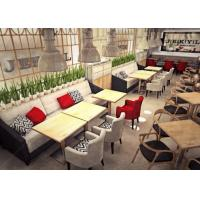 Buy cheap Modern Restaurant Furniture / Oak Wooden Restaurant Tables And Chairs from wholesalers