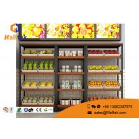 Wholesale Eco - Friendly Wood Gondola Shelving Wooden Shop Shelving Customized Color from china suppliers