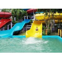 Racing Waterslide Water Park Equipment With Fiberglass Slide For Resorts Swimming Pool