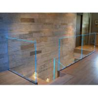 Buy cheap LED glass balustrade aluminum u channel railing for stair balcony handrail from wholesalers
