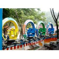 Multi Color UFO Cycle Monorail Ride , Track Car Model Roller Coaster Attractions