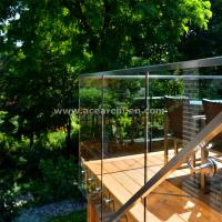 Wholesale Shenzhen  Ace Frameless Corridor Stainless Steel Standoff Glass Railing from china suppliers