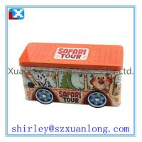 Wholesale Cut car shape gift tin box for kids from china suppliers