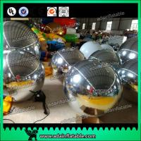 Wholesale Festivals Inflatable Event Mirror Ball With Sliver Color , Inflatable Mirrored Sphere from china suppliers